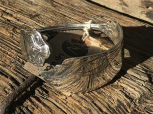 German Sterling Silver Fishknife Bangle
