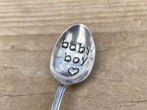 Silver Plate Baby Boy Teaspoon