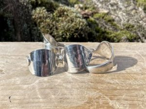 Silver Plated Napkin Rings Set Of 4