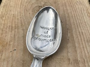 Weapon Of Mass Consumption Silver Plated Serving Spoon