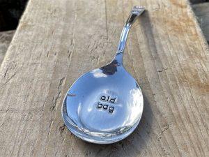 Silver Plate Old Bag Teabag Holder