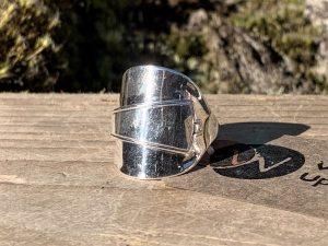 Sterling Silver Sheffield 1942 Demitasse Spoon Ring
