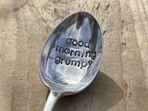 Silver Plate Good Morning Grumpy Dessert Spoon