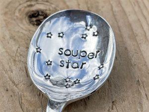 Silver Plate Souper Star Soup Spoon