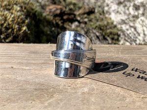 American 1917 Sterling Silver Teaspoon Ring