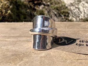 Sterling Silver Birmingham 1939 Teaspoon Ring