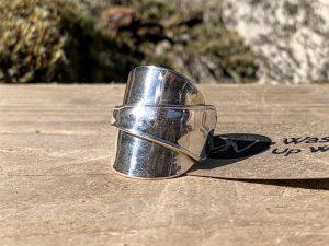 German Sterling Silver Coffee Spoon Ring
