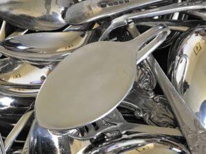 Silver Plated Folded Teaspoon Bookmark