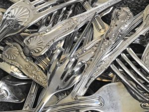 Silver Plated Pickle Fork