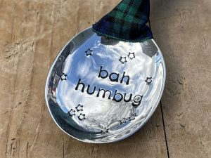 Soup Spoon Bowl Christmas Decoration, Bah Humbug