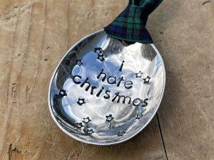 Soup Spoon Bowl Christmas Decoration, I Hate Christmas
