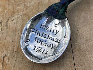Soup Spoon Bowl Christmas Decoration, Merry Christmas Turkey T#ts
