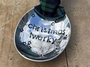 Soup Spoon Bowl Christmas Decoration, Christmas Twerky