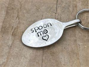 Silver Plate Spoon Keyring, Spoon Me