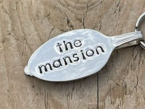 Silver Plate Spoon Keyring, The Mansion