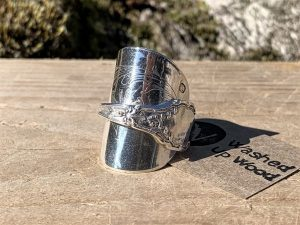 French Sterling Silver Ice Cream Spoon Ring