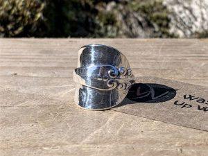 Norwegian Sterling Silver Demitasse Spoon Ring