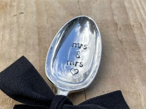 Silver Plate Mrs & Mrs Dessert Spoon