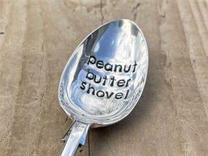 Silver Plate Peanut Butter Shovel Dessert Spoon