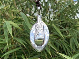 Sterling Silver Sheffield 1928 Fiddle Pattern Coffee Spoon Pendant