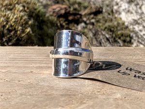 Sterling Silver Birmingham 1967 Demitasse Spoon Ring