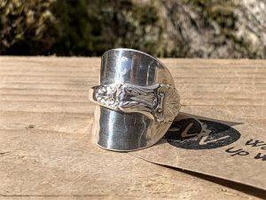Sterling Silver London 1896 Coffee Spoon Ring