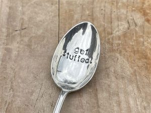Silver Plate Get Stuffed Dessert Spoon