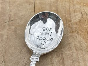 Silver Plate Get Well Spoon Soup Spoon