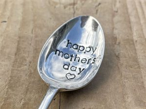 Silver Plate Happy Mothers Day Dessert Spoon