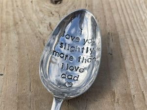 Silver Plate I Love You Slightly More Than I Love Dad Serving Spoon