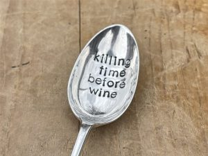 Silver Plate Killing Time Before Wine Dessert Spoon