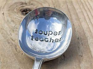 Silver Plate Souper Teacher Soup Spoon