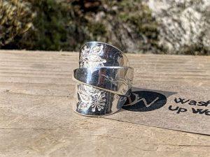 Sterling Silver Birmingham 1924 Coffee Spoon Ring