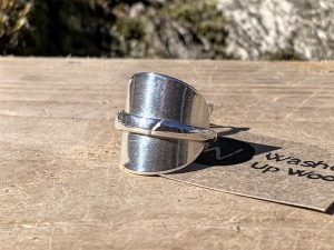 Canadian Solid Silver Demitasse Spoon Ring