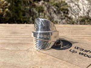 Sterling Silver London 1888 Coffee Spoon Ring