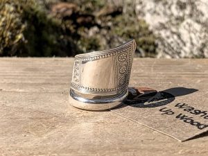 American Solid Silver Fruit Spoon Handle Twist Ring