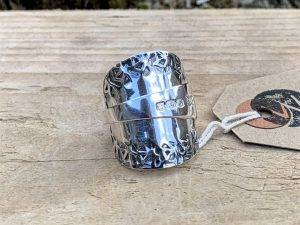Sterling Silver Sheffield 1920 Coffee Spoon Ring