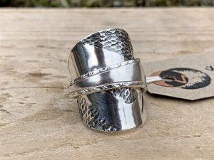 Sterling Silver Birmingham 1940 Coffee Spoon Ring