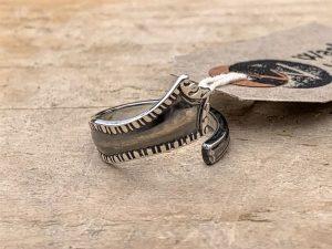 Sterling Silver London 1898 Coffee Spoon Handle Twist Ring