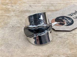 Sterling Silver London 1935 Coffee Spoon Ring