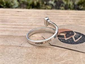 Sterling Silver Sheffield 1925 Nail Ring