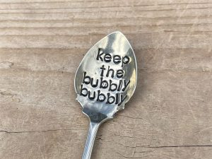 Silver Plate Keep The Bubbly Bubbly Spoon