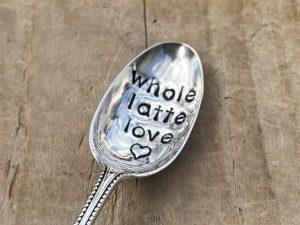 Silver Plate Whole Latte Love Teaspoon