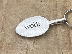 Silver Plate Work Keyring